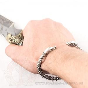 Браслет Викингов из серебра