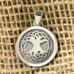 Кулон Дерево Жизни из серебра