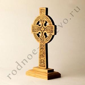 Настольный кельтский крест из дуба  -Святой Грааль-