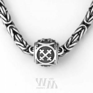 """Оберег """"Крест Мары"""" - бусина, серебро"""